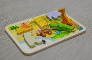 Houten dieren leg puzzel- tips hoe je speelgoed praktisch sorteert en opruimt